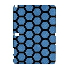 Hexagon2 Black Marble & Blue Colored Pencil (r) Samsung Galaxy Note 10 1 (p600) Hardshell Case by trendistuff