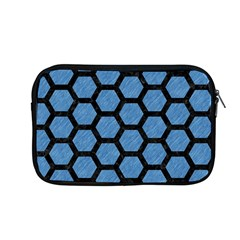 Hexagon2 Black Marble & Blue Colored Pencil (r) Apple Macbook Pro 13  Zipper Case by trendistuff