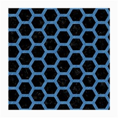 Hexagon2 Black Marble & Blue Colored Pencil Medium Glasses Cloth by trendistuff