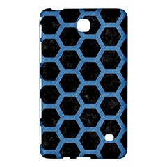 Hexagon2 Black Marble & Blue Colored Pencil Samsung Galaxy Tab 4 (8 ) Hardshell Case  by trendistuff