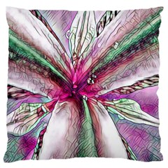 Flower Purple Haze Large Flano Cushion Case (one Side) by KAllan