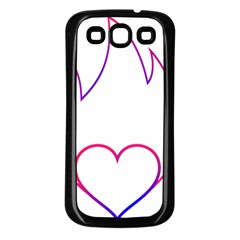 Heart Flame Logo Emblem Samsung Galaxy S3 Back Case (black)