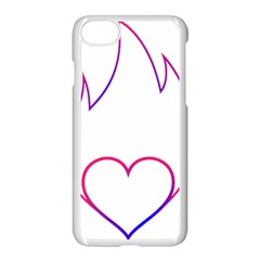 Heart Flame Logo Emblem Apple Iphone 7 Seamless Case (white)
