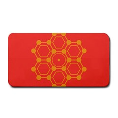 Pentagon Cells Chemistry Yellow Medium Bar Mats
