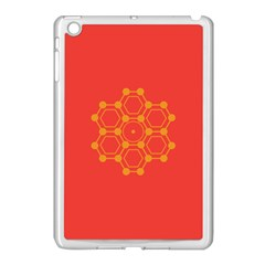 Pentagon Cells Chemistry Yellow Apple Ipad Mini Case (white) by Nexatart
