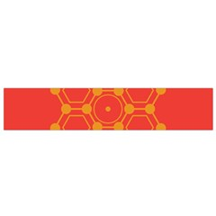 Pentagon Cells Chemistry Yellow Flano Scarf (small) by Nexatart