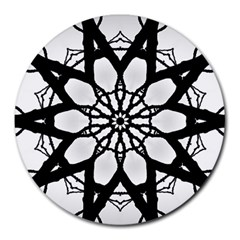 Pattern Abstract Fractal Round Mousepads