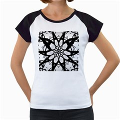Pattern Abstract Fractal Women s Cap Sleeve T
