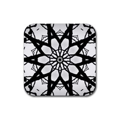Pattern Abstract Fractal Rubber Square Coaster (4 Pack)  by Nexatart