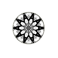 Pattern Abstract Fractal Hat Clip Ball Marker (4 Pack)