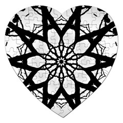 Pattern Abstract Fractal Jigsaw Puzzle (heart) by Nexatart