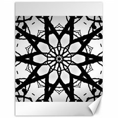 Pattern Abstract Fractal Canvas 12  X 16   by Nexatart