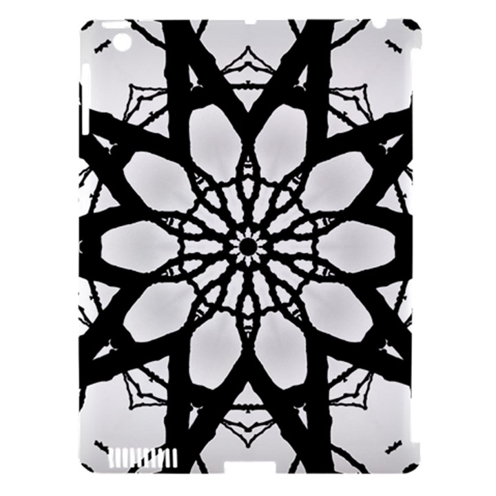 Pattern Abstract Fractal Apple iPad 3/4 Hardshell Case (Compatible with Smart Cover)