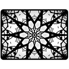 Pattern Abstract Fractal Double Sided Fleece Blanket (large)