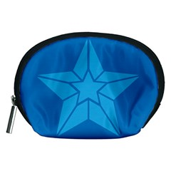 Star Design Pattern Texture Sign Accessory Pouches (medium)  by Nexatart