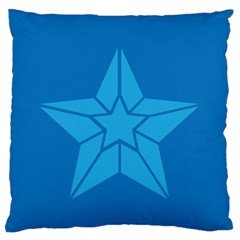 Star Design Pattern Texture Sign Large Flano Cushion Case (two Sides)