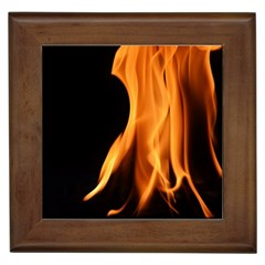 Fire Flame Pillar Of Fire Heat Framed Tiles by Nexatart