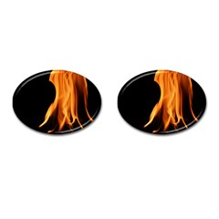 Fire Flame Pillar Of Fire Heat Cufflinks (oval)
