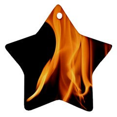 Fire Flame Pillar Of Fire Heat Star Ornament (two Sides) by Nexatart