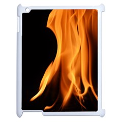 Fire Flame Pillar Of Fire Heat Apple Ipad 2 Case (white) by Nexatart