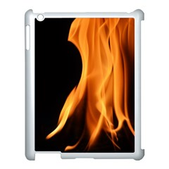 Fire Flame Pillar Of Fire Heat Apple Ipad 3/4 Case (white) by Nexatart