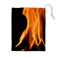 Fire Flame Pillar Of Fire Heat Drawstring Pouches (extra Large)