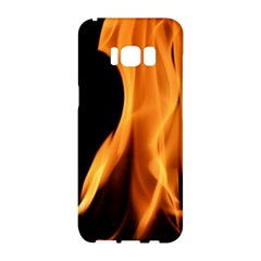 Fire Flame Pillar Of Fire Heat Samsung Galaxy S8 Hardshell Case  by Nexatart