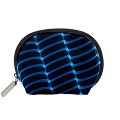 Background Light Glow Blue Accessory Pouches (small)  by Nexatart