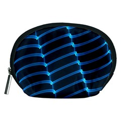 Background Light Glow Blue Accessory Pouches (medium)  by Nexatart