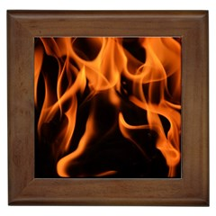 Fire Flame Heat Burn Hot Framed Tiles by Nexatart