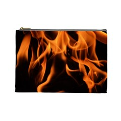 Fire Flame Heat Burn Hot Cosmetic Bag (large)  by Nexatart