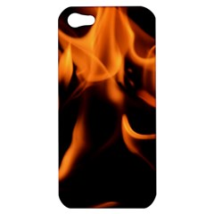 Fire Flame Heat Burn Hot Apple Iphone 5 Hardshell Case by Nexatart