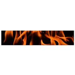 Fire Flame Heat Burn Hot Flano Scarf (small)