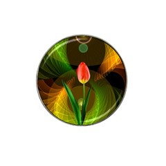 Tulip Flower Background Nebulous Hat Clip Ball Marker by Nexatart