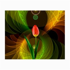 Tulip Flower Background Nebulous Small Glasses Cloth by Nexatart