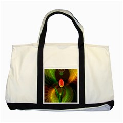 Tulip Flower Background Nebulous Two Tone Tote Bag