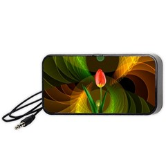 Tulip Flower Background Nebulous Portable Speaker (black) by Nexatart