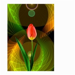 Tulip Flower Background Nebulous Small Garden Flag (two Sides) by Nexatart
