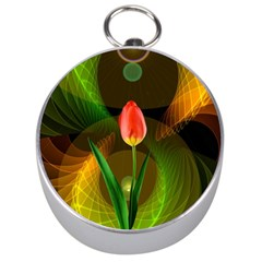 Tulip Flower Background Nebulous Silver Compasses by Nexatart