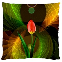 Tulip Flower Background Nebulous Standard Flano Cushion Case (two Sides)