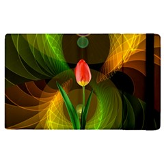 Tulip Flower Background Nebulous Apple Ipad Pro 9 7   Flip Case by Nexatart