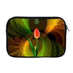 Tulip Flower Background Nebulous Apple Macbook Pro 17  Zipper Case