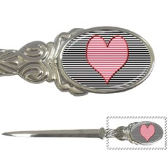 Heart Stripes Symbol Striped Letter Openers