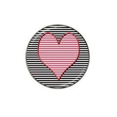 Heart Stripes Symbol Striped Hat Clip Ball Marker (10 Pack) by Nexatart