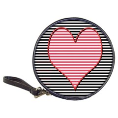 Heart Stripes Symbol Striped Classic 20 Cd Wallets by Nexatart