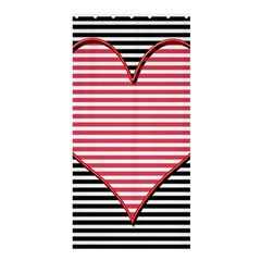 Heart Stripes Symbol Striped Shower Curtain 36  X 72  (stall)