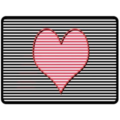 Heart Stripes Symbol Striped Double Sided Fleece Blanket (large)  by Nexatart