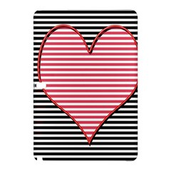 Heart Stripes Symbol Striped Samsung Galaxy Tab Pro 10 1 Hardshell Case by Nexatart