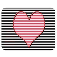 Heart Stripes Symbol Striped Double Sided Flano Blanket (medium)