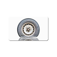 Flat Tire Vehicle Wear Street Magnet (name Card)